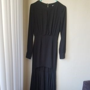 Nasty Gal Black Hi-low dress